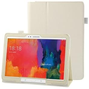 Litchi Texture Leather Case with Holder for Samsung Galaxy Tab Pro 10.1 / T520(White)