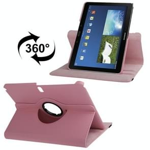 360 Degree Rotatable Litchi Texture Leather Case with 2-angle Viewing Holder for Samsung Galaxy Note 10.1 (2014 Edition) / P600, Pink(Pink)