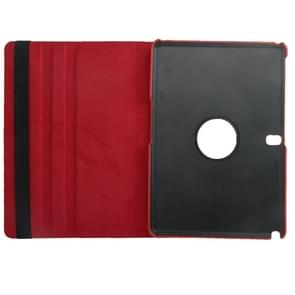 360 Degree Rotatable Litchi Texture Leather Case with 2-angle Viewing Holder for Samsung Galaxy Note 10.1 (2014 Edition)/ P600, Red(Red)