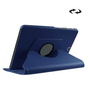 Litchi Texture 360 Degree Rotation Leather Case with Holder for Samsung Galaxy Tab S2 9.7 / T815 / T810(Dark Blue)