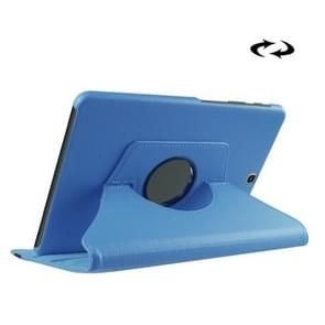 Litchi Texture 360 Degree Rotation Leather Case with Holder for Samsung Galaxy Tab S2 9.7 / T815 / T810(Blue)