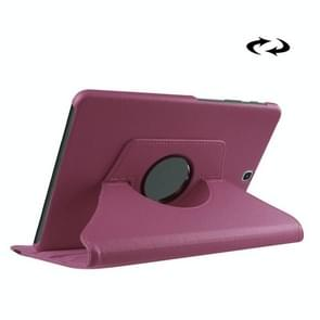 Litchi Texture 360 Degree Rotation Leather Case with Holder for Samsung Galaxy Tab S2 9.7 / T815 / T810 (Light Purple)