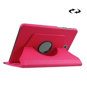 Litchi Texture 360 Degree Rotation Leather Case with Holder for Samsung Galaxy Tab S2 8.0 / T715 / T710(Magenta)