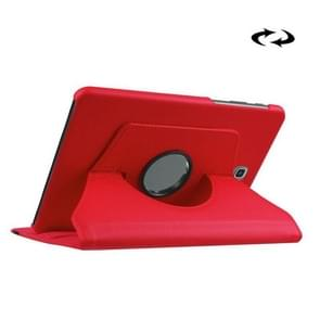 Litchi Texture 360 Degree Rotation Leather Case with Holder for Samsung Galaxy Tab S2 8.0 / T715 / T710(Red)