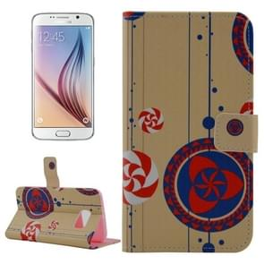 For Samsung Galaxy S6 / G920 Ethnic Pattern Leather Case with Holder & Wallet