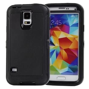 Shockproof TPU + Plastic Combination Case for Samsung Galaxy S5 / G900 (Black)