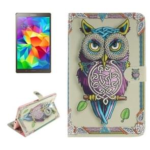Owl Pattern Leather Case with Holder & Card Slots & Wallet for Samsung Galaxy Tab S 8.4 / T700