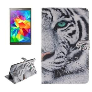 Tiger Pattern Leather Case with Holder & Card Slots & Wallet for Samsung Galaxy Tab S 8.4 / T700