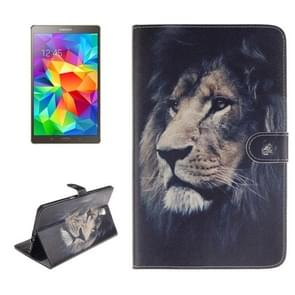 Lion Pattern Leather Case with Holder & Card Slots & Wallet for Samsung Galaxy Tab S 8.4 / T700