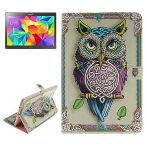 Owl Pattern Leather Case with Holder & Card Slots & Wallet for Samsung Galaxy Tab S 10.5 / T800