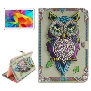 Owl Pattern Leather Case with Holder & Card Slots & Wallet for Samsung Galaxy Tab 4 10.1 / T530