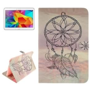 Dreamcatcher Windbell Pattern Leather Case with Holder & Card Slots & Wallet for Samsung Galaxy Tab 4 10.1 / T530