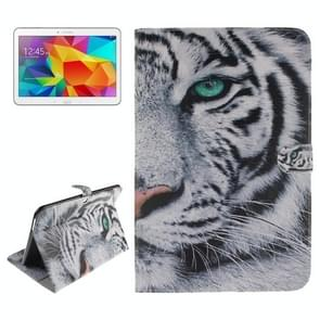 Tiger Pattern Leather Case with Holder & Card Slots & Wallet for Samsung Galaxy Tab 4 10.1 / T530