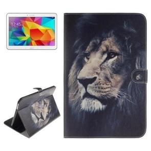 Lion Pattern Leather Case with Holder & Card Slots & Wallet for Samsung Galaxy Tab 4 10.1 / T530