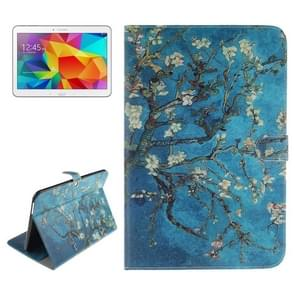 Plum Pattern Leather Case with Holder & Card Slots & Wallet for Samsung Galaxy Tab 4 10.1 / T530