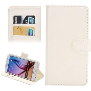 4.8-5.3 Inch Universal Crazy Horse Texture 360 Degree Rotating Carry Case with Holder & Card Slots for  iPhone X , Samsung Galaxy S6 / S5 / Galaxy Grand Duos / G920 / G900 / i9082(White)