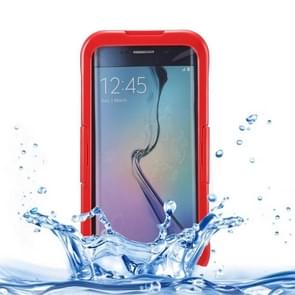 For Samsung Galaxy S6 Edge+ / G928 IP x 8 PVC + Silicone Transparent Universal Waterproof Protective Case with Lanyard (Red)