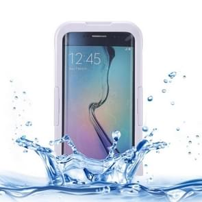 For Samsung Galaxy S6 Edge+ / G928 IP x 8 PVC + Silicone Transparent Universal Waterproof Protective Case with Lanyard (White)