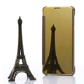 For Samsung Galaxy S6 Edge+ / G928 Electroplating Mirror Horizontal Flip Leather Case (Gold)