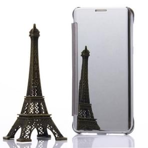 For Samsung Galaxy S6 Edge+ / G928 Electroplating Mirror Horizontal Flip Leather Case (Silver)