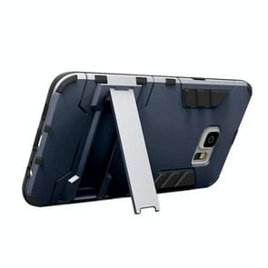 For Samsung Galaxy S6 edge+ / G928 TPU + PC Combination Case with Holder(Navy Blue)