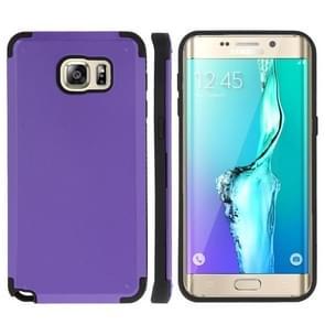 For Samsung Galaxy S6 edge+ / G928 PC + TPU Combination Case (Purple)