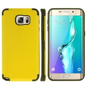 For Samsung Galaxy S6 edge+ / G928 PC + TPU Combination Case (Yellow)