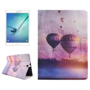 Fire Balloon Drawing Pattern Horizontal Flip PC + PU Leather Case with Holder & Card Slots for Samsung Galaxy Tab S2 8.0 / T715