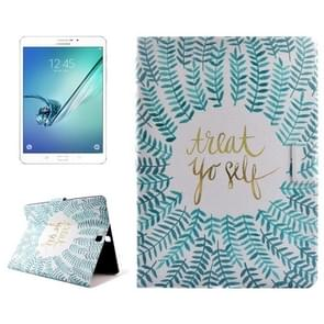 Olive Branch Drawing Pattern Horizontal Flip PC + PU Leather Case with Holder & Card Slots for Samsung Galaxy Tab S2 8.0 / T715