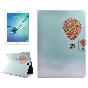Colorful Balloon Drawing Pattern Horizontal Flip PC + PU Leather Case with Holder & Card Slots for Samsung Galaxy Tab S2 9.7 / T815