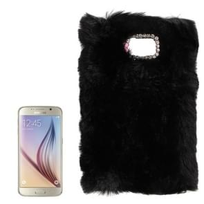 For Samsung Galaxy S6 / G920 Faux Fur PC Protective Case (Black)