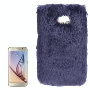 For Samsung Galaxy S6 / G920 Faux Fur PC Protective Case (Blue)