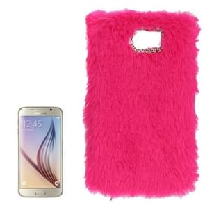 For Samsung Galaxy S6 / G920 Faux Fur PC Protective Case (Magenta)