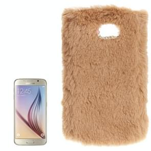 For Samsung Galaxy S6 / G920 Faux Fur PC Protective Case (Carnation)