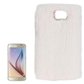 For Samsung Galaxy S6 / G920 Faux Fur PC Protective Case (White)