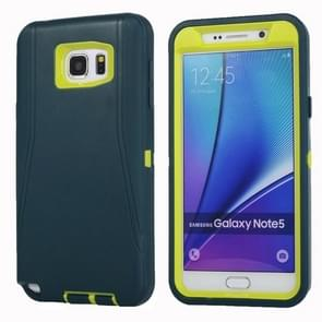 For Samsung Galaxy Note 5 / N920 Hybrid TPU Bumper PC Combination Case(Green+Yellow)