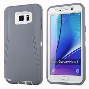 For Samsung Galaxy Note 5 / N920 Hybrid TPU Bumper PC Combination Case(Grey+White)