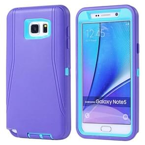 For Samsung Galaxy Note 5 / N920 Hybrid TPU Bumper PC Combination Case(Purple+Blue)