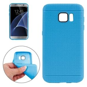 For Samsung Galaxy S7/G930 Honeycomb Surface TPU Protective Case (Blue)