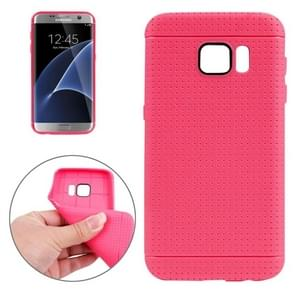 For Samsung Galaxy S7/G930 Honeycomb Surface TPU Protective Case (Magenta)
