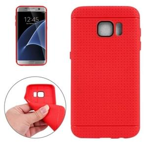 For Samsung Galaxy S7/G930 Honeycomb Surface TPU Protective Case (Red)
