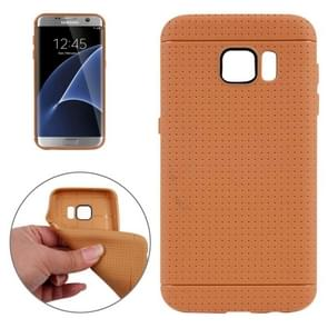 For Samsung Galaxy S7/G930 Honeycomb Surface TPU Protective Case (Brown)