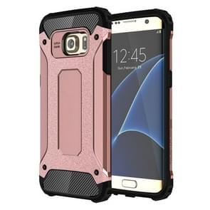 For Galaxy S7 Edge / G935 Tough Armor TPU + PC Combination Case (Rose Gold)