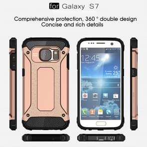For Galaxy S7 / G930 Tough Armor TPU + PC Combination Case (Rose Gold)
