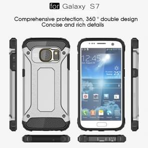 For Galaxy S7 / G930 Tough Armor TPU + PC Combination Case (Silver)