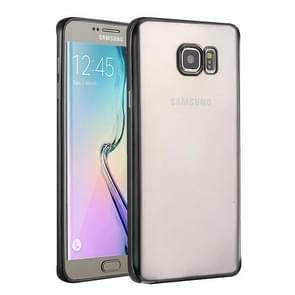 For Samsung Galaxy S6 Edge+ / G928 Electroplating TPU Protective Case(Black)