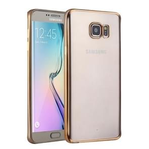 For Samsung Galaxy S6 Edge+ / G928 Electroplating TPU Protective Case (Gold)