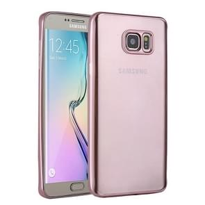For Samsung Galaxy S6 Edge+ / G928 Electroplating TPU Protective Case (Magenta)