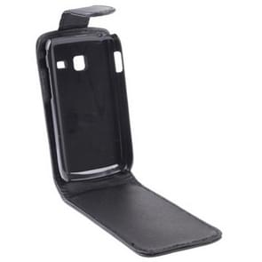 Vertical Flip Leather Case for Samsung Galaxy Y Duos / S6102, Black