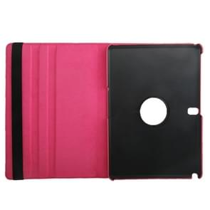 360 Degree Rotatable Litchi Texture Leather Case with 2-angle Viewing Holder for Samsung Galaxy Tab Pro 10.1 / T520(Magenta)